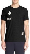 Moncler Men's Leather Patch T-Shirt