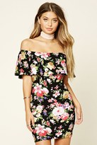 Forever 21 FOREVER 21+ Floral Off-The-Shoulder Dress