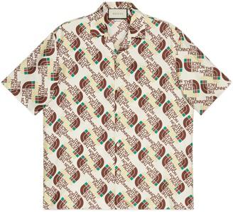 Gucci The North Face x Web print silk shirt