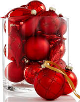 Holiday Lane Set of 22 Glass Red Ornaments, Created for Macy's