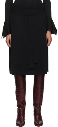 Joseph Black Cosy Wool Knit Skirt