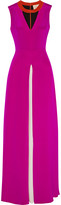 Roksanda Layn color-block silk-crepe gown
