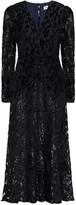 Thumbnail for your product : Self-Portrait Ruched Devore-velvet Midi Dress