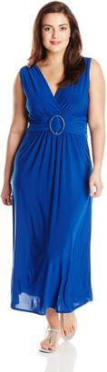 Star Vixen Women's Plus-Size Sleeveless O-Ring Maxidress