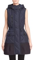 Moncler Women's 'Eles' Water Resistant Quilted Hooded Down Vest
