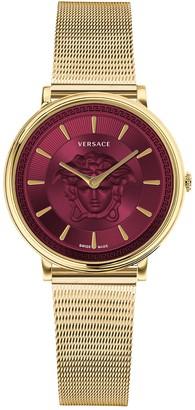 Versace Women's Swiss Quartz Mesh Bracelet, 38mm