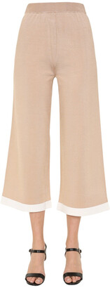 Boutique Moschino Wide Leg Knitted Trousers