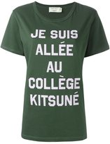 MAISON KITSUNÉ message print T-shirt