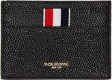 Thom Browne Black Single Card Holder