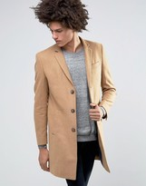 Minimum Gleason Slim Wool Overcoat Contrast Reverse Lapel