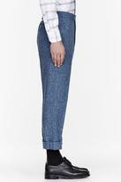 Thom Browne Blue confetti slub trousers