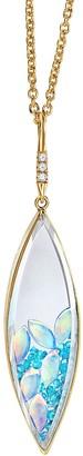 Moritz Glik Marquise Paraiba Tourmaline, Opals and Diamond Shaker Necklace