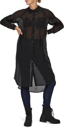 AWARE BY VERO MODA Melonie Long Sleeve Shirtdress