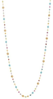Marco Bicego Africa 18K Yellow Gold, Turquoise & Multicolor Gemstone Bead Long Necklace