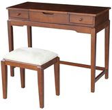 International Concepts Vanity Table & Bench 2-piece Set