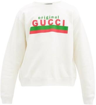 Gucci Logo-print Cotton-jersey Sweatshirt - White