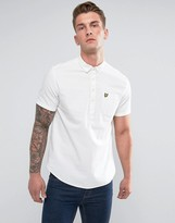 Lyle & Scott Garment Dye Oxford Short Sleeve Overhead Shirt White