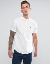 Lyle & Scott Garment Dye Oxford Short Sleeve Overhead Shirt White