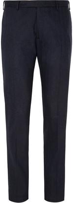 Boglioli Navy Herringbone Virgin Wool-Blend Suit Trousers
