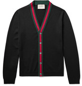 Gucci Stripe-Trimmed Wool Cardigan