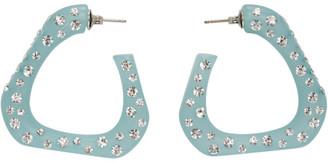Simon Miller Blue Triangle Hoop Earrings