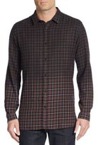 The Kooples Ombré Plaid Cotton Sportshirt