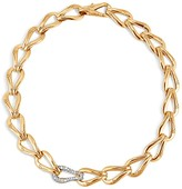 John Hardy 18K Gold Bamboo Link Necklace with Diamonds, 18""