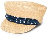 Maison Michel straw sailor cap