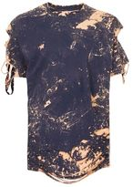 Topman FINDS Grey Bleached Distressed Grunge T-Shirt