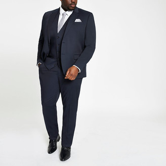 River Island Big and Tall navy suit trousers