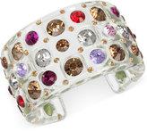 Betsey Johnson Multi-Crystal Lucite Cuff Bracelet