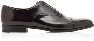 Prada Spazzolato Fume Leather Dress Shoes