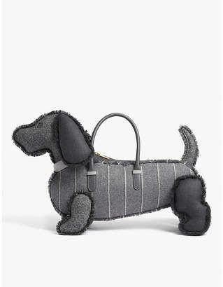 Thom Browne Hector donegal tweed handbag