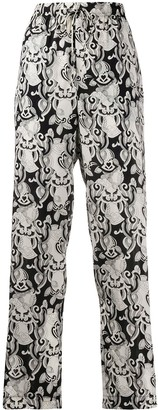 See by Chloe Drawstring Embroidered Trousers