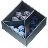 John Lewis Silk Knot Cufflinks, Box Of 3, Light Blue/navy/grey