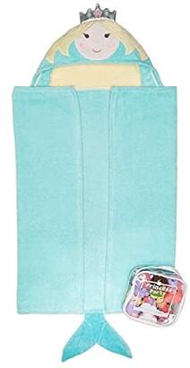Elegant Baby Mermaid Bath Wrap and Squirtie Set (Infant) (Aqua) Bath Towels