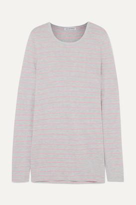 Alexander Wang Striped Slub Jersey Top - Gray