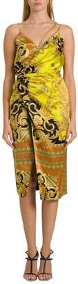 Versace Satin Wrap Dress