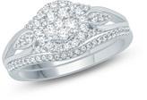 Zales 1/2 CT. T.W. Composite Diamond Flower Frame Petal-Sides Bridal Set in 10K White Gold