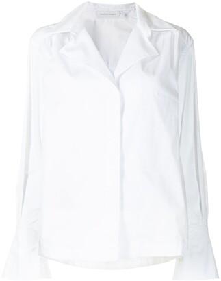 Jonathan Simkhai Evette spread collar shirt