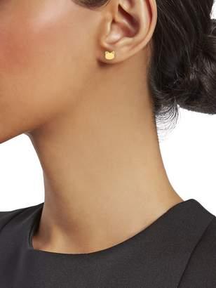 Saks Fifth Avenue 14K Yellow Gold Cat Face Stud Earrings