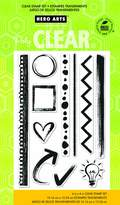 Hero Arts Notebook Essentials Clear Stamp Set