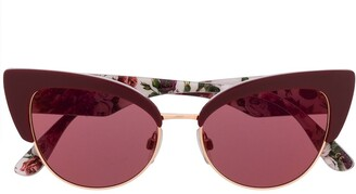 Dolce & Gabbana Eyewear Floral Printed Cat-Eye Sunglasses