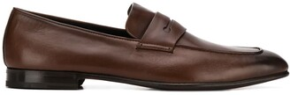 Ermenegildo Zegna Burnished Leather Loafers