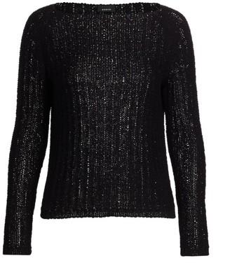 Akris Ribbon Knit Boatneck Sweater