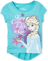 Children's Apparel Network Disney Frozen 'Keep Calm' Hi-Lo Hem Tee - Toddler
