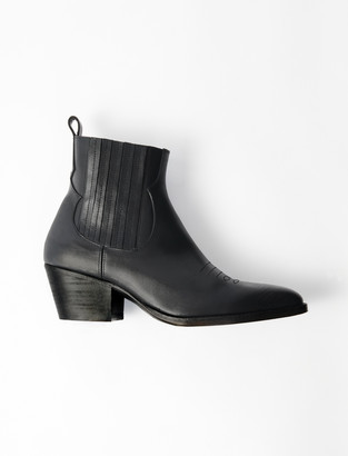 Maje Leather Cowboy Boots