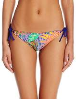 Trina Turk Women's Tropic Escape Tie Side Hipster Bikini Bottom