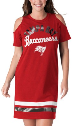 E.m. Women's G-III 4Her by Carl Banks Red Tampa Bay Buccaneers Go Get Tri-Blend Cold Shoulder Mini-Dress