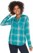Juniors' SO® Twill Button-Down Shirt